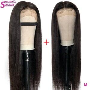 13x6 perucas do cabelo humano da parte dianteira do laço descorado nós pré arrancadas parte profunda 150% relação média brasileira reta remy perucas da frente do cabelo