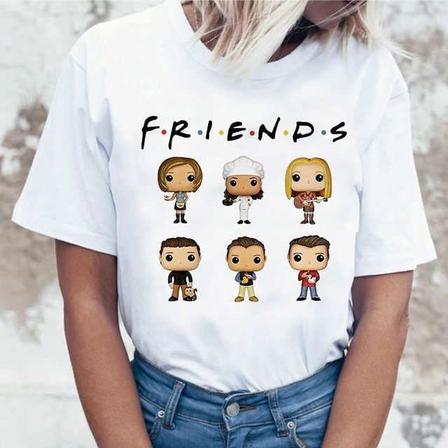 Harujuku Kawaii Friends Tv TShirt Women Korean Style Fashion T-shirt Ulzzang 90s Graphic Friends Tv Show T Shirt Top Tees Female