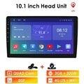 Автомобильный мультимедийный плеер DAB +, 2 Гб ОЗУ 32 Гб ПЗУ, сенсорный экран 10,1 дюйма, стерео 2DIN для Android 10, bluetooth, Wi-Fi, GPS-навигация, четырехъядерн...