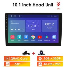 2g ram 32g rom 10.1 polegada tela de toque do carro estéreo 2din para android10 bluetooth wifi gps nav quad core reprodutor multimídia carro dab +