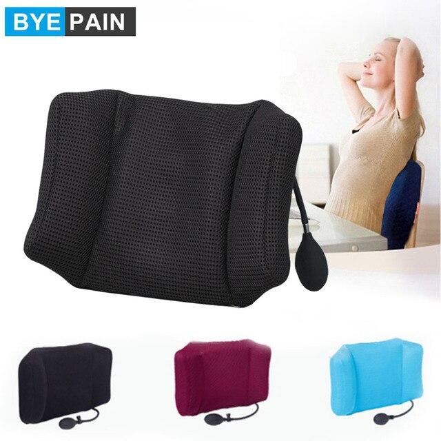 1Pcs Byepain Draagbare Opblaasbare Lendensteun Kussen/Massage Kussen Voor Travel Office Auto Camping Om Wais Rugpijn relief
