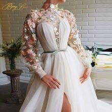 Bery love элегантные вечерние платья с кружевной аппликацией