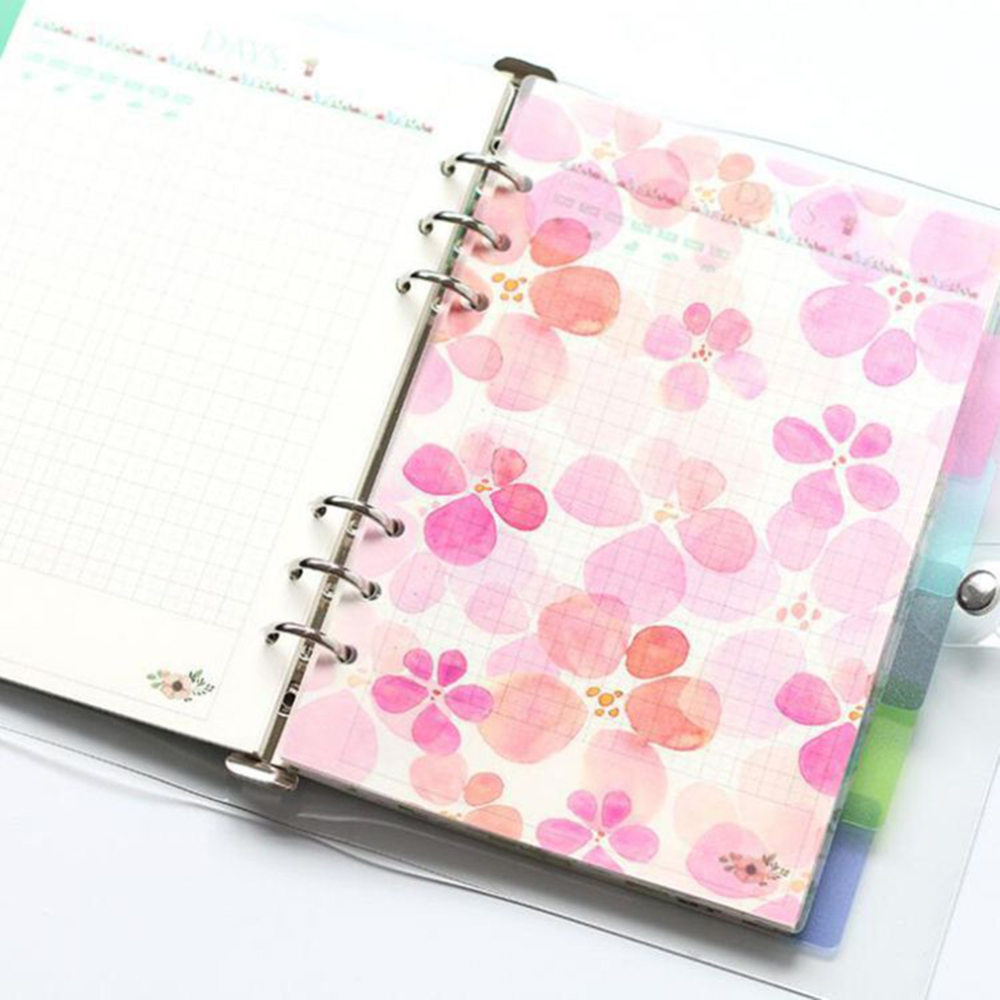 6 Sheets A5 6 7 Kawaii Spiral Notebook Divider, Cute Fine Organizer Planner Separator Pages Office School Stationery Index Paper