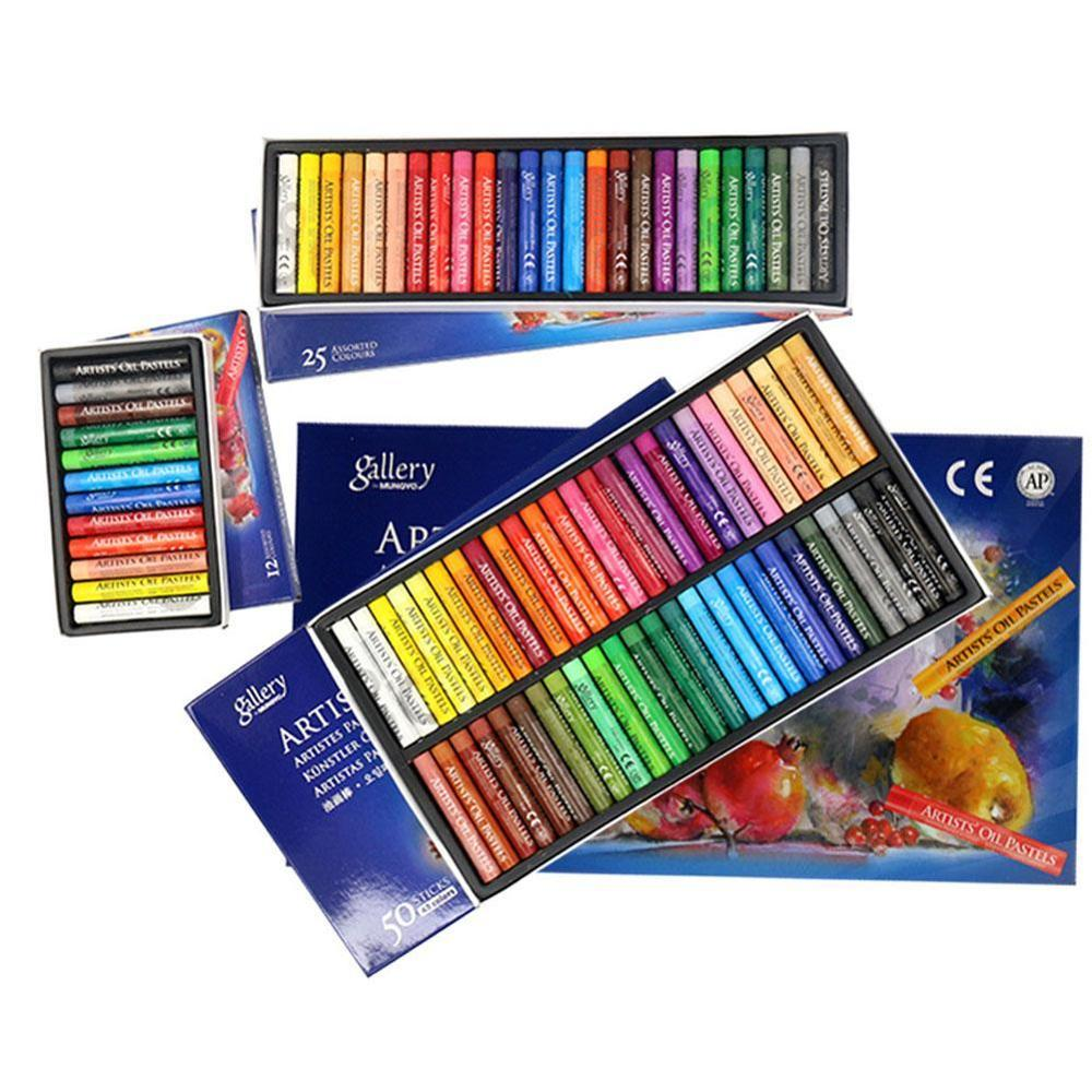 50 Colors Oil Pastel For Artist Student Graffiti Soft Pastel Painting Drawing Pen School Stationery Art Supplies Crayon Set