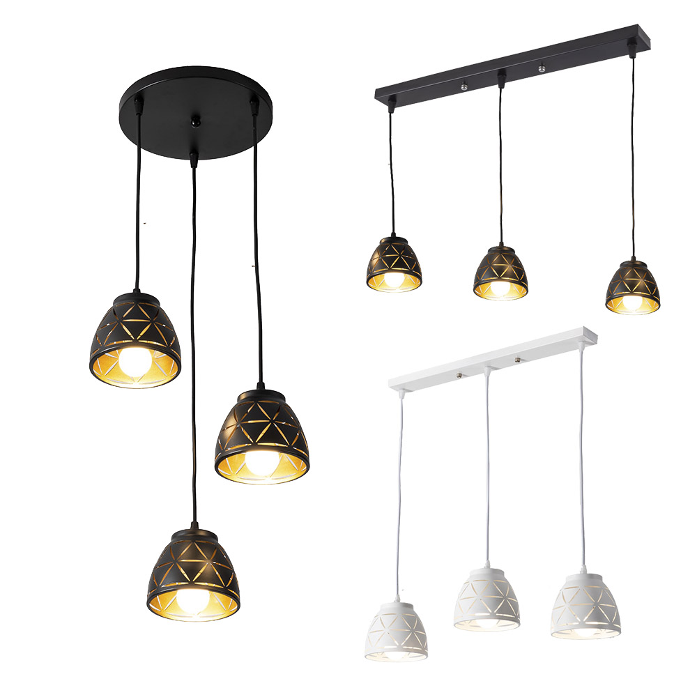 Nordic Iron Pendant Lights Vintage Black Modern LED Hanging Lamp For Living Room Restaurant Home Loft Industrial Decor Luminair