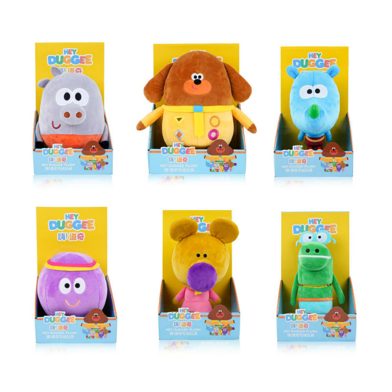 100% Genuine Hey Duggeeing Kid Toy Anime Figure Toys Rhinoceros Wombat Octopus Alligator Hippo Action Figure Plush Model Doll