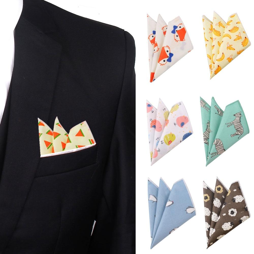 Suits Cartton Pocket Square For Men Women Cotton Chest Towel Hanky Gentlemen Hankies Casual Female Handkerchief Pocket Towel