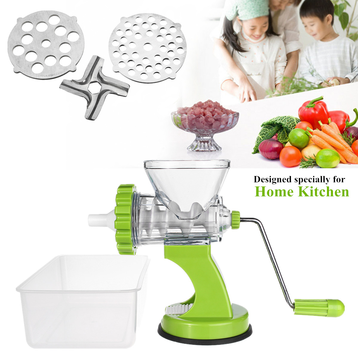 Meat Grinder Mincer Slicer Multifunction Machine With Stainless Steel Blade/Tomato Vegetable Chopper Appliances For Home