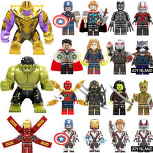 Marvel Avengers 4 Super Heroes Legoed Endgame Iron Man Captain America Spiderman Thanos Hulk Building Blocks Figures Giocattoli per Bambini(China)