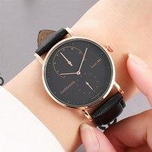 Classic Vogue Men's Watches Leather Strap Big tow Eyes Dial Alloy Case Watches Male Casual Quartz Wrist Clock Zegarek meski
