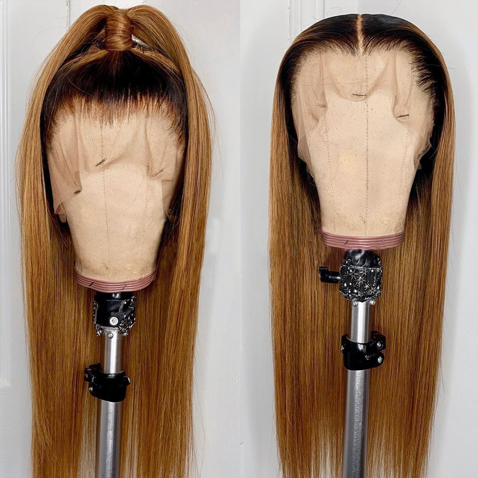 Honey-Blonde-Lace-Front-Human-Hair-Wigs-Ombre-T4-27-Pre-Plucked-Straight-Brazilian-Remy-Hair (1)
