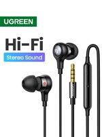 UGREEN Aux auricolari auricolari, 3.5mm USB tipo C cuffie cablate microfono con controllo del Volume con isolamento acustico per Android MP3/MP4