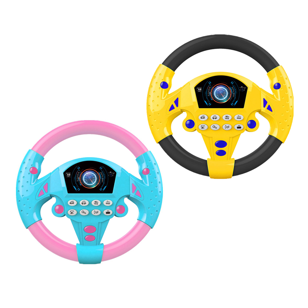 Simulation Steering Wheel Baby Kids Musical Educational Toys Birthday Gifts Driving Rotated Steering Wheel