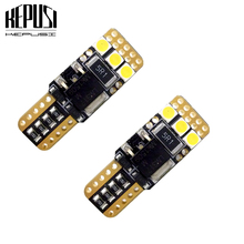 2x Car T10 LED light 3030 6smd Canbus Error free W5W 168 194 motorcycle Reading Mirror License Plate Width 12V