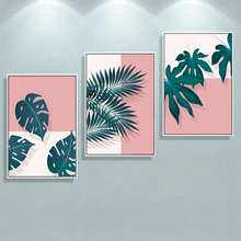 Palm Leaves Monstera Green Fresh Plant  Nordic Posters And Prints Wall Art Print Canvas Painting Pictures For Living Room