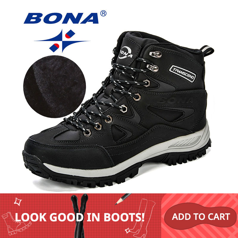 BONA New Design Classics Style Men Winter Boots Male Snow Ankle Boots  Warm Casual Boots Comfortable Anti-Slip Free Shipping