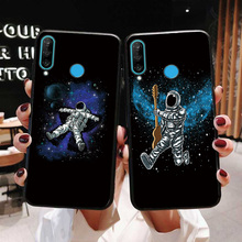 Astronaut Cases For Huawei P30 Sports Music Black TPU Cover Lite Phone Shell Pro Bumper