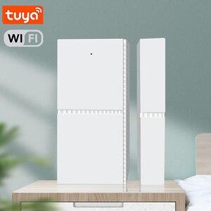 Image 5 - Sensor de ventana de puerta magnética inteligente con WIFI, alarma de apertura y entrada, Detector de seguridad con Control remoto para Smart Life, Tuya, Alexa y Google Home