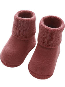 Socks Clothes-Accessories Newborn-Baby Infant Thick Solid for Winter Warm Girls Boys