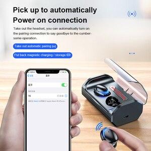 Image 4 - T8 Bluetooth 5.0 אוזניות מגע שליטה אלחוטי Headphons HD סטריאו עמיד למים אוזניות עם 3000 mAh LED תצוגת טעינת תיבה