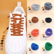 1Pair Solid Color Semicircle Shoelaces Elastic Lace No Tie Shoe Laces Kids Adult Quick Lazy Sneakers Shoelace Strings