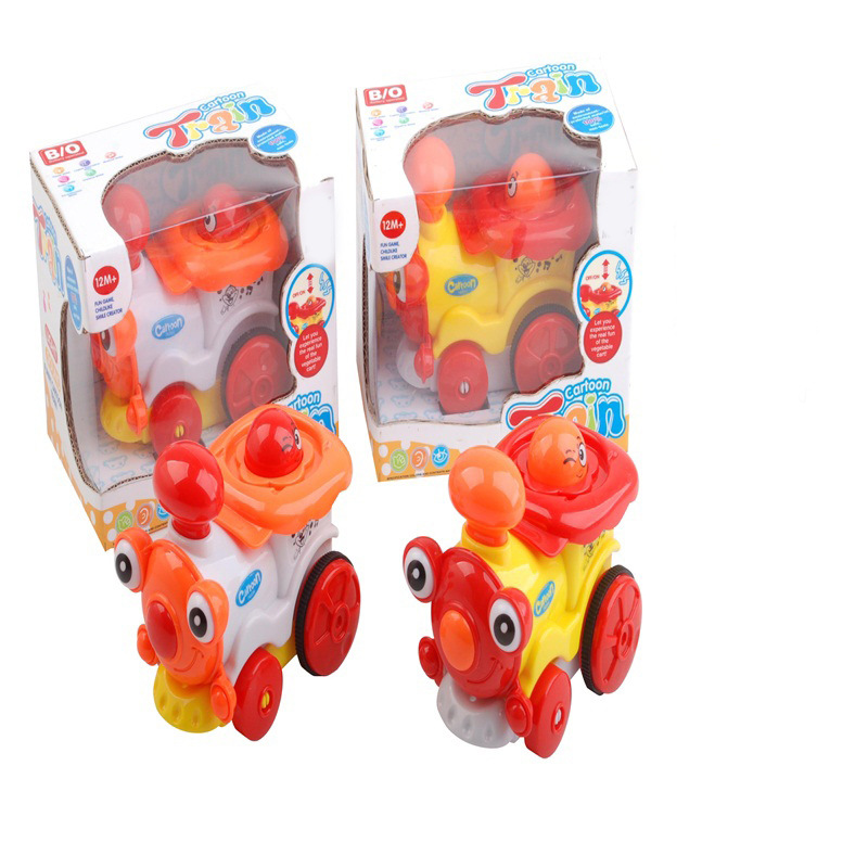 Children Early Childhood Fun Electric Light And Sound Cartoon Train Baby Educational Electric Universal Car Boy Toy