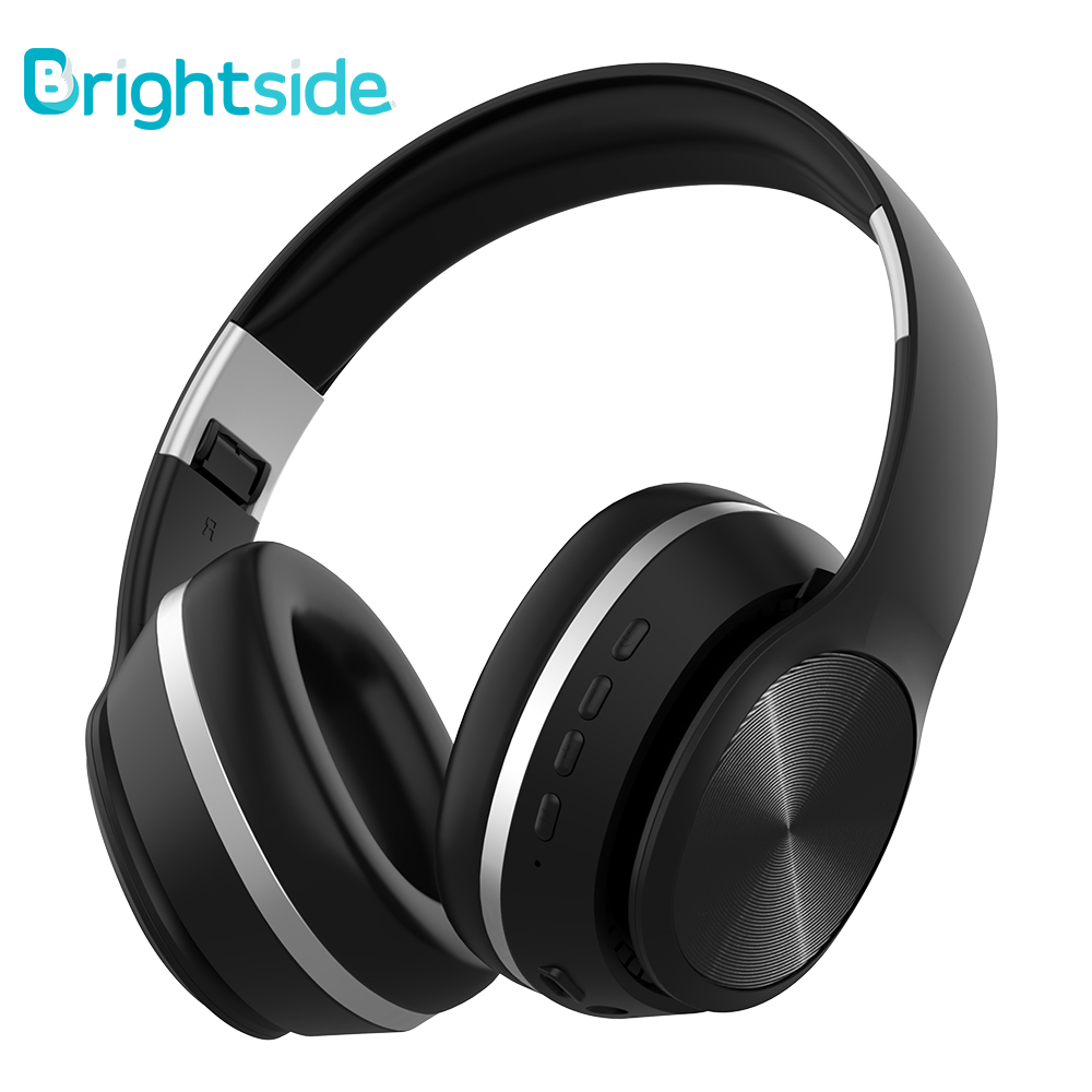 Brightside Wireless Headphones Bluetooth Headset Foldable Earphone Deep Bass Headphones With Mic TF Card For Ipad Mobile Phone