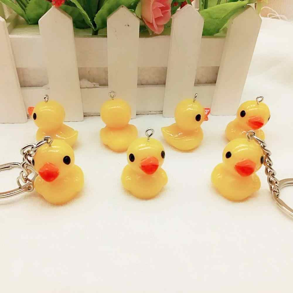 Cartoon Resin little yellow duck keychain Korean Key Ring  bag  pendant creative gifts #TL19081106