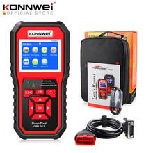 Konnwei scanner automotivo, ferramenta de diagnóstico automotivo com leitor de código de falha, multilíngue, para carro 2 kw850