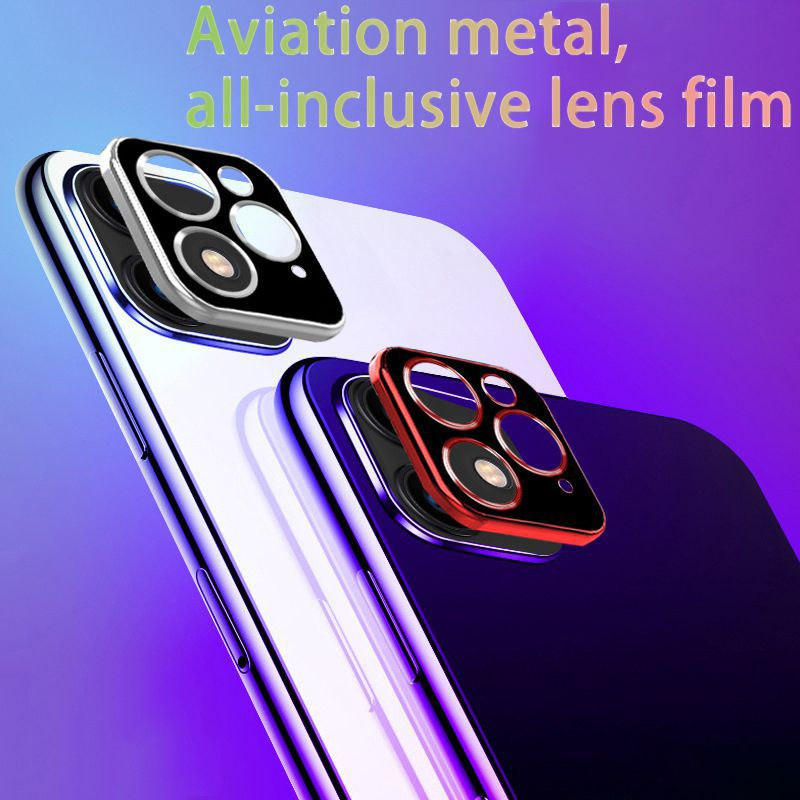 For IPhone 11 Pro X XR XS Max Tempered Glass Camera Lens Screen Protector image