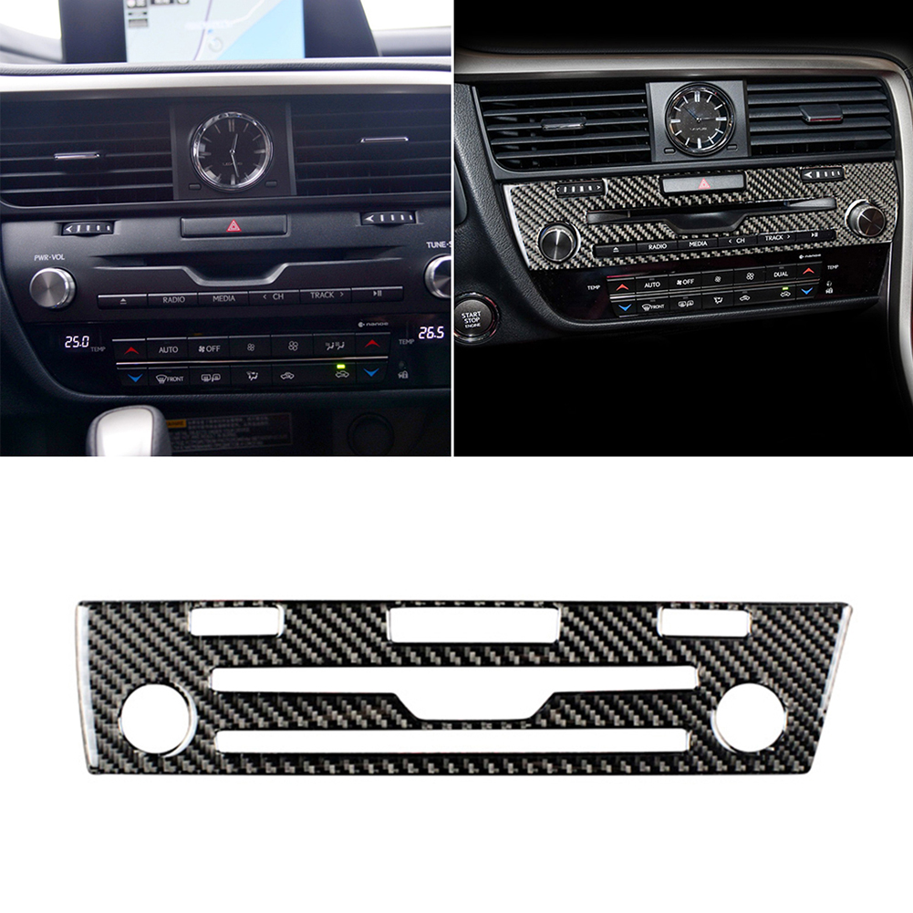 Real Carbon Fiber Car interior CD Panel Cover Trim Decorative Sticker For Lexus RX300 RX270 <font><b>RX200T</b></font> 450H 2016-2019 Car Styling image