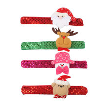 Christmas Clap Circle Pat Ring Wristband Bracelet Kids Toy Gifts Lovely(China)