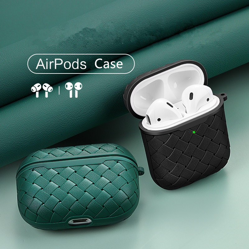 Earphone Leather Case For Airpods1 2 Antifall Cover AirPods Pro 3 Luxury Imitation PU Silicone Protective Cases AntiFingerprints