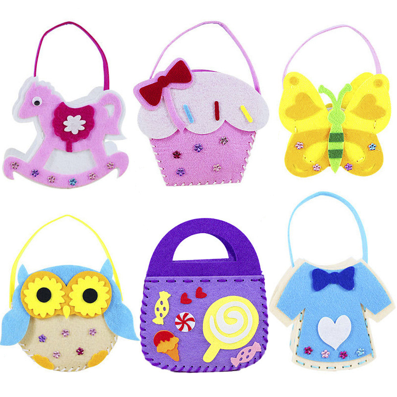 Handicrafts Toy For Children Non-woven Handbag Girl Gifts Kids Diy Bag Materials 2019 New Wholesale