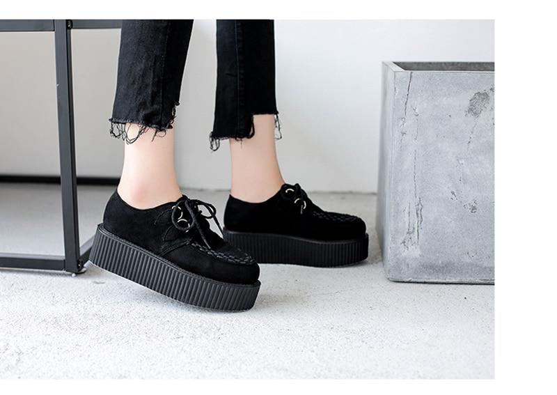 Mulheres casuais sapatos harajuku plataforma saltos conforto