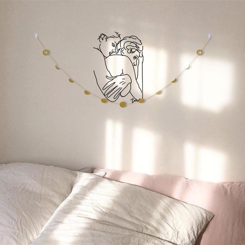 DIY Современная комбинированная настенная фоторамка подвесная настенная фоторамка украшение альбома бумажные рамки с веревкой Clips1 - 2