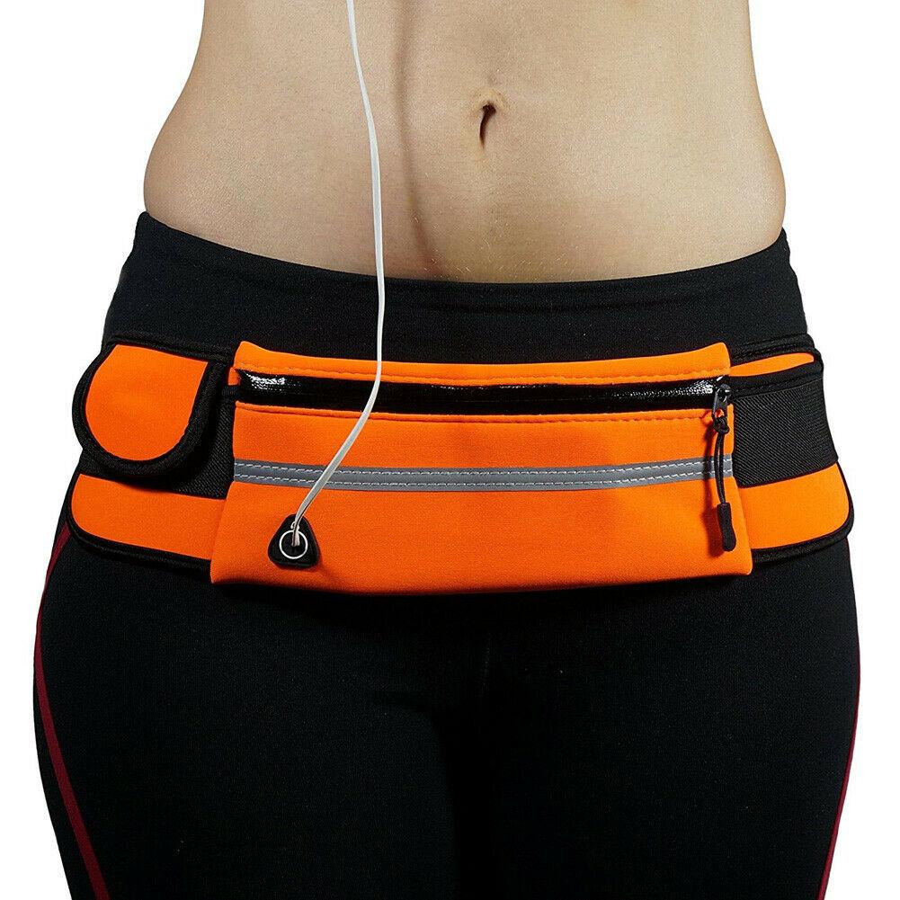 Local Stock Waterproof Running Bum Bag Fanny Pack Waist Belt Money Wallet Zip Pouch Sports
