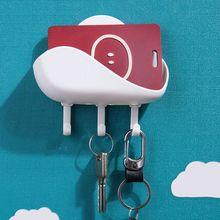 Уникальный облако образный стеллаж для хранения ногтей бесплатно настенный крюк держатель для ключей заколка для волос для дома номер