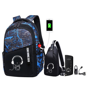Image 1 - Luminous oxford school bags for teenage boys large backpack for teenagers bagpack high school backpack student casual travel bag