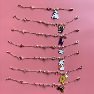 Kpop Bangtan boys Bracelet Cartoon Jungkook jimin V suga jin j-hope RM Metal Bracelet for fans gift