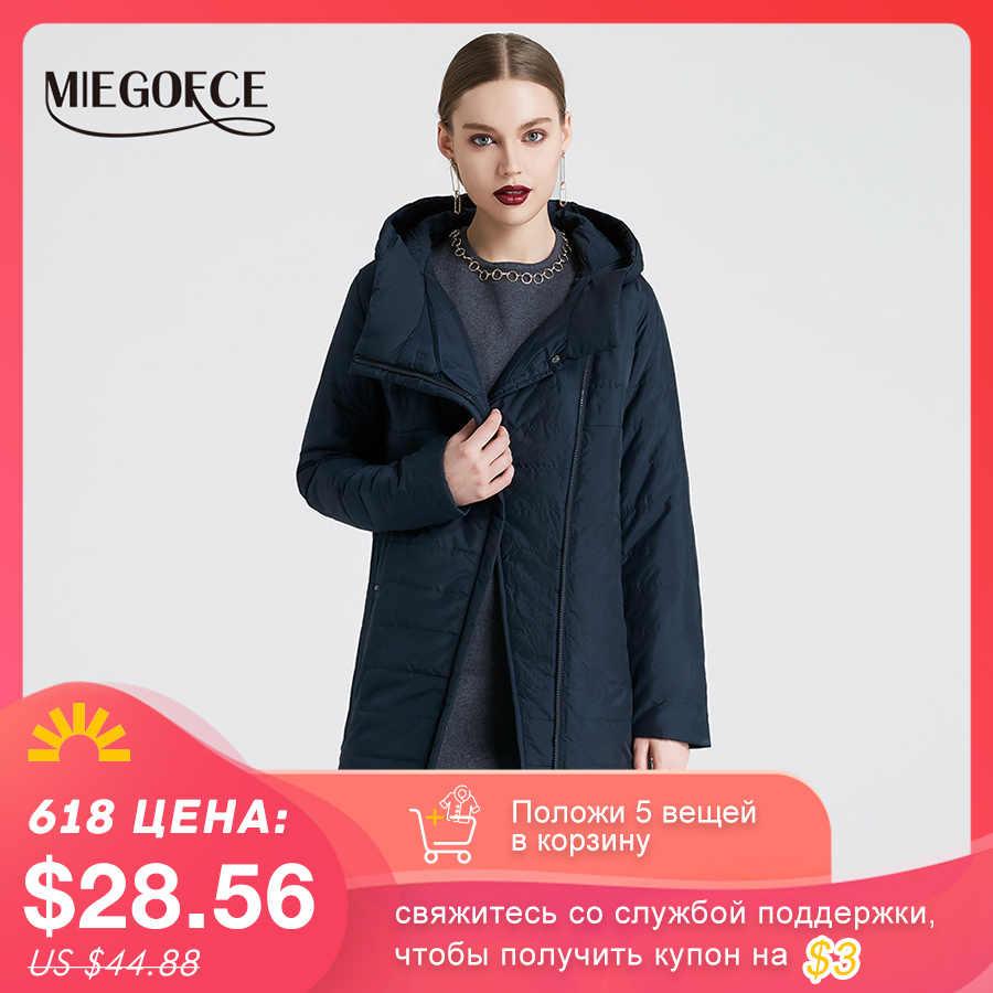 MIEGOFCE 2020 ฤดูใบไม้ผลิผู้หญิงแจ็คเก็ตโค้งซิปเสื้อผู้หญิงคุณภาพสูงบางฝ้ายเบาะแจ็คเก็ตสตรี warm Parka Coat