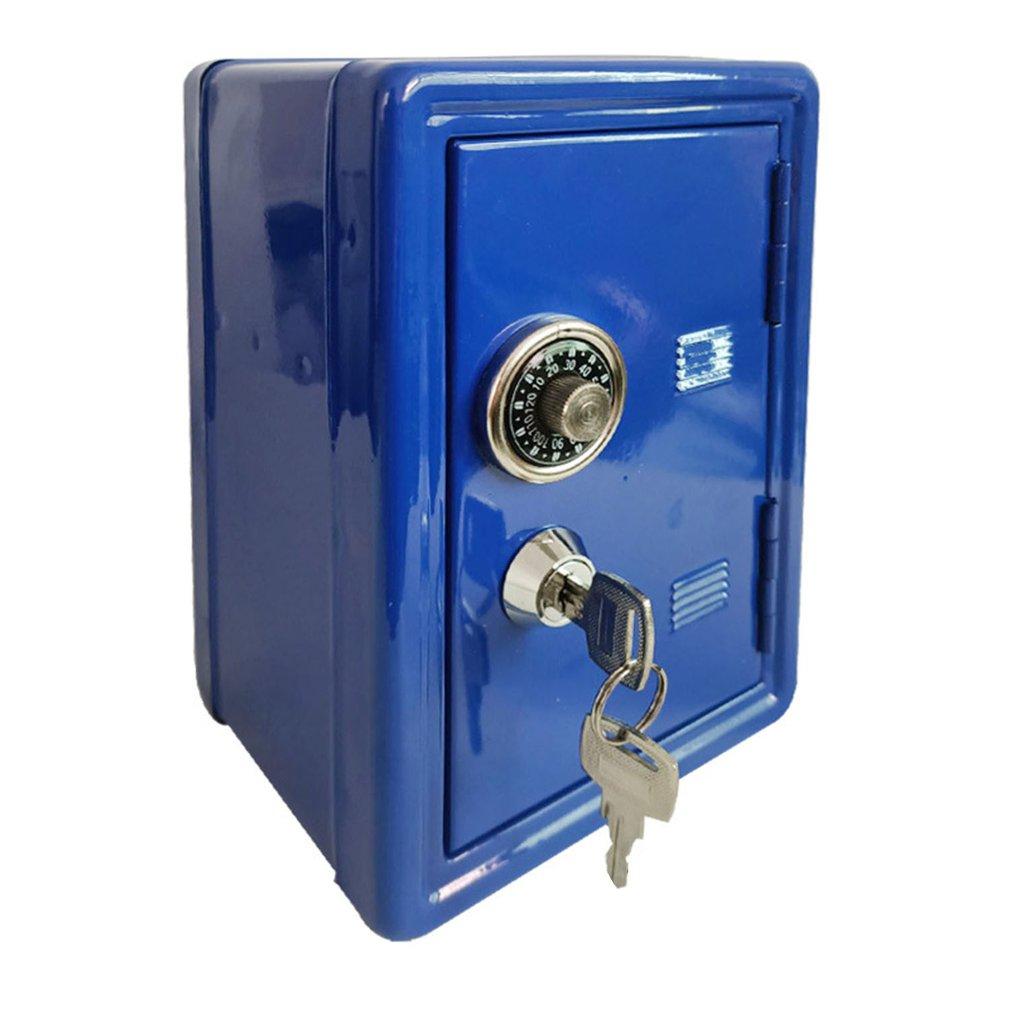 Бытовая страховочная мини-коробка, металлическая безопасная креативная копилка, страховочный шкаф для ключей, настольное украшение