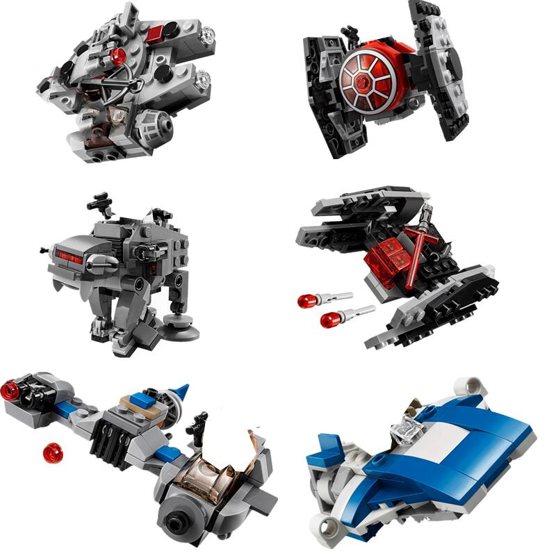 New 1pcs StarWars Spaceship Microfighters  AT-ST Fighters Building Blocks Bricks Toys With 10893 10894