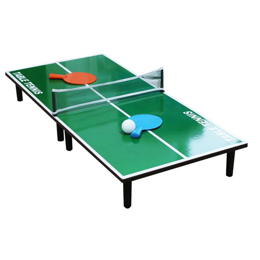 Мини-набор для настольного тенниса, складной деревянный стол для пинг-понга с 2 ракетками, портативная настольная игра для помещений, детская игрушка 1