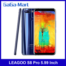 LEAGOO S8 Pro 5.99 Inch Octa-Core 4G Mobile Phone 6GB RAM 64GB 13MP Android 7.1.1 Fingerprint 3050mAh Unlock Smartphone