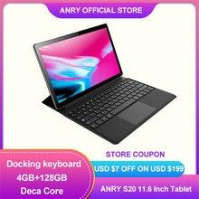 ANRY – tablette Android 11.6 de 128 pouces S20, avec 4 go de RAM, 8.1 go de ROM, Deca Core, 4G LTE, GPS, Google Play, 2 en 1
