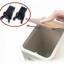 Drop shipping 10pcs Door Lock Trash Switch Can Bin Trash Can Push-type Car Buckle Lock Switch Black / White