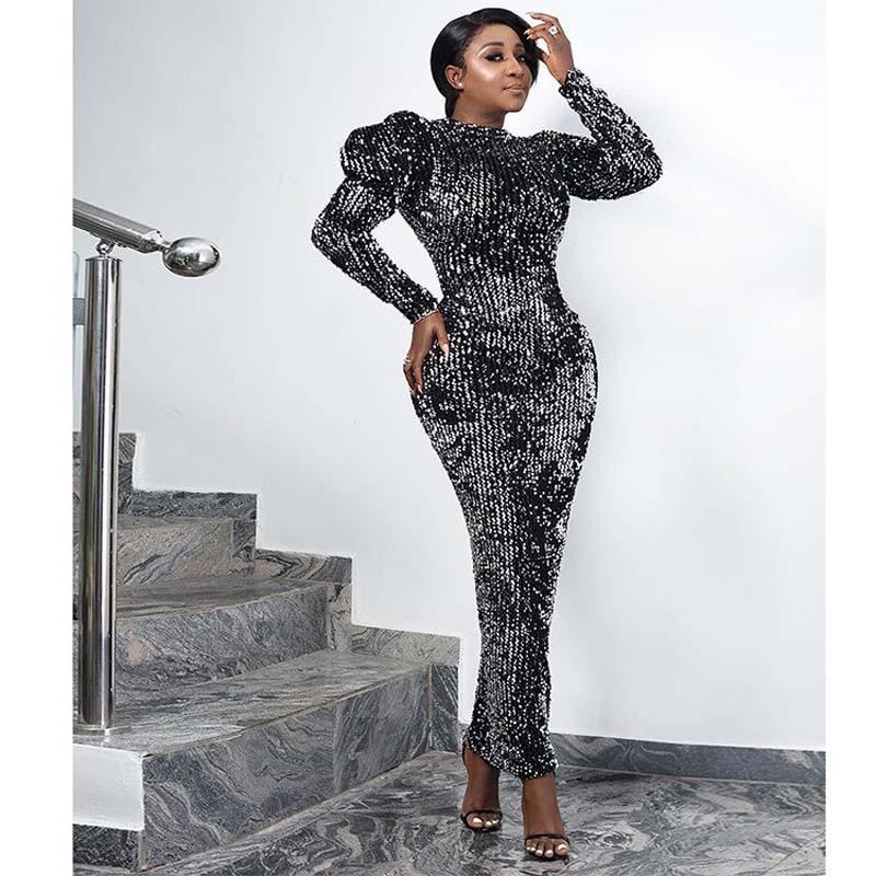 Sequin Velvet Party Dress…