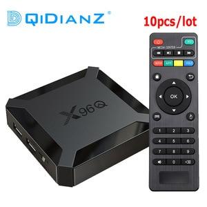 Image 1 - 10pcs/lot New X96Q Android 10.0 TV Box Allwinner H313 Quad Core Support 4K 3D Voice Control Set Top Box 2GB Media Player