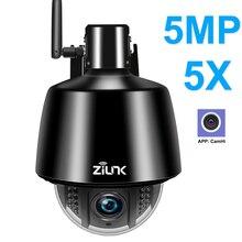 HI3516C + SONY IMX323 zewnętrzna bezprzewodowa kamera do monitoringu HD 1080P 5MP WIFI kamera PTZ IP 5X Zoom automatyczne ustawianie ostrości 2.7 13.5mm Onvif CamHi